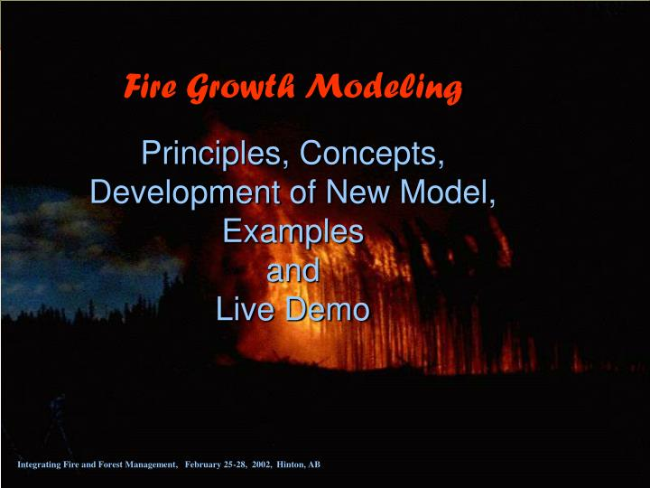 Fire Growth Modeling