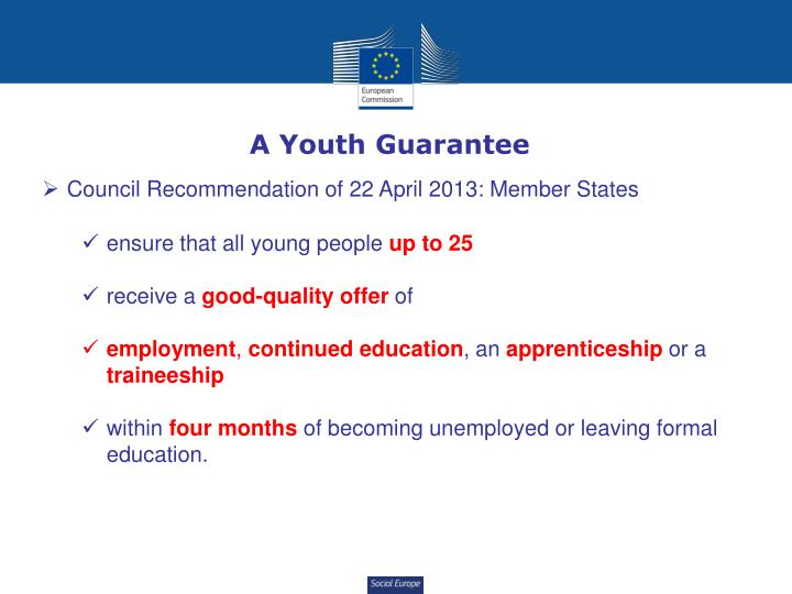 A Youth Guarantee