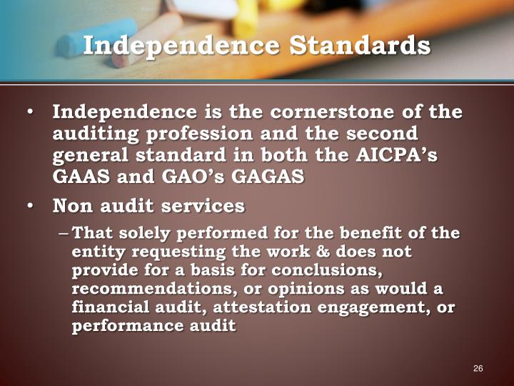 Independence Standards