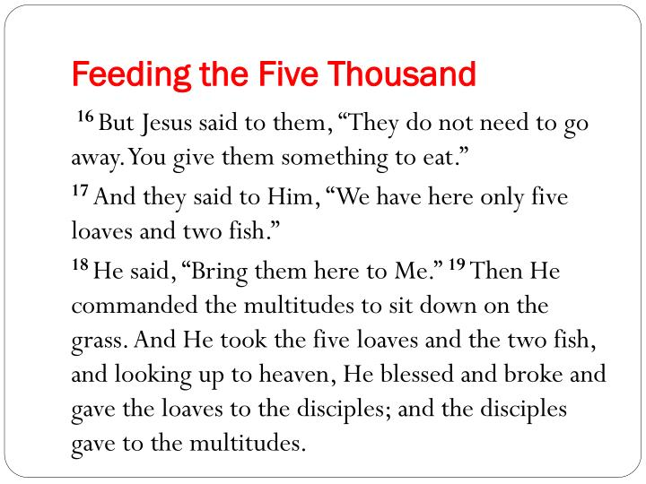 Feeding the Five Thousand