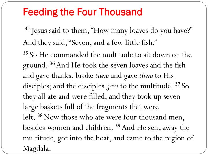 Feeding the Four Thousand