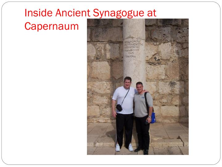 Inside Ancient Synagogue at