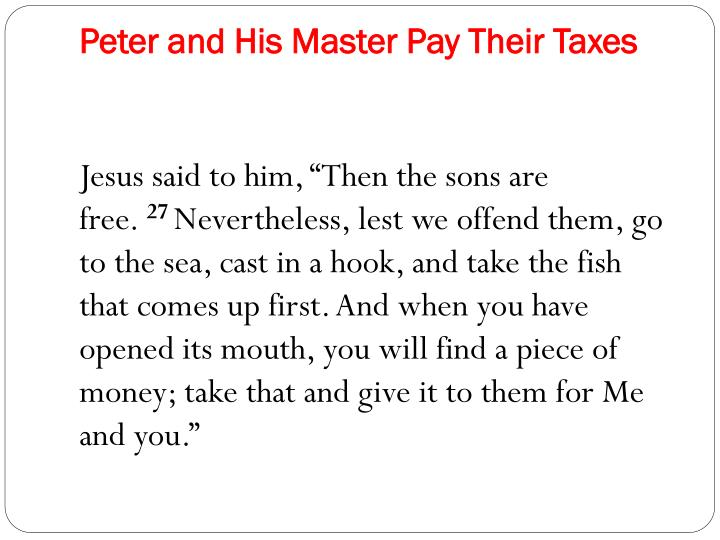 Peter and His Master Pay Their Taxes