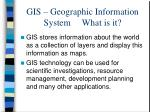 gis geographic information system what is it