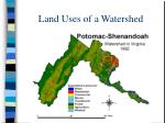 land uses of a watershed