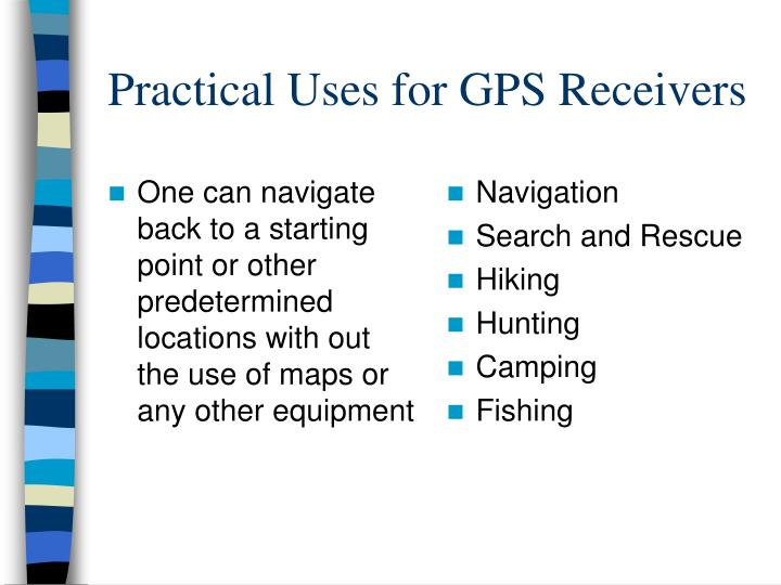 One can navigate back to a starting point or other predetermined locations with out the use of maps or any other equipment