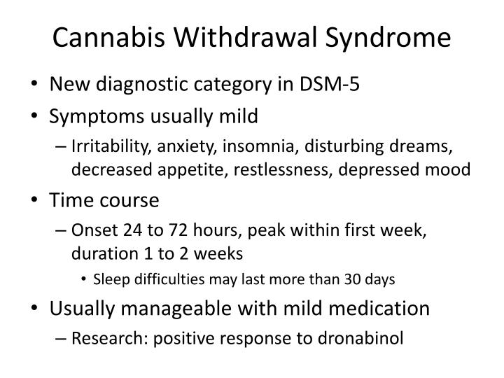 Cannabis Withdrawal Syndrome