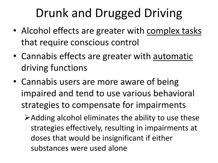 Drunk and Drugged Driving