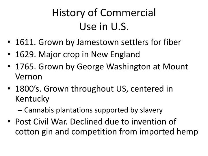 History of Commercial