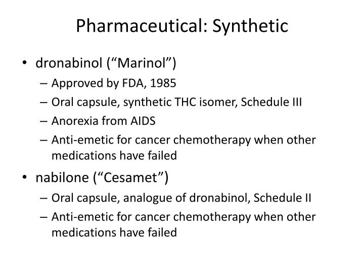 Pharmaceutical: Synthetic