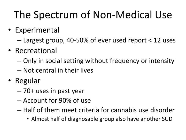 The Spectrum of Non-Medical Use