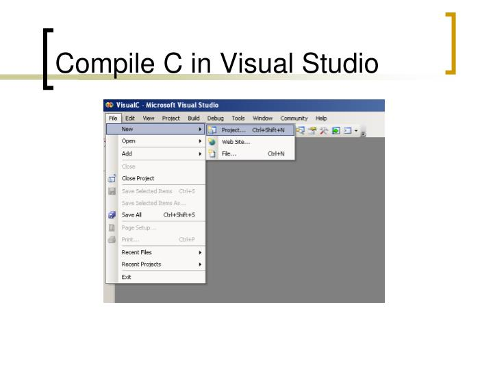 Compile C in Visual Studio