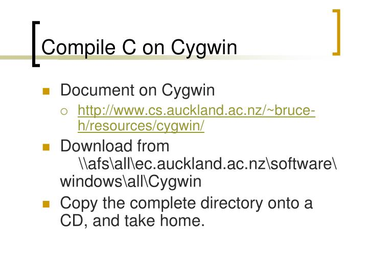 Compile C on Cygwin