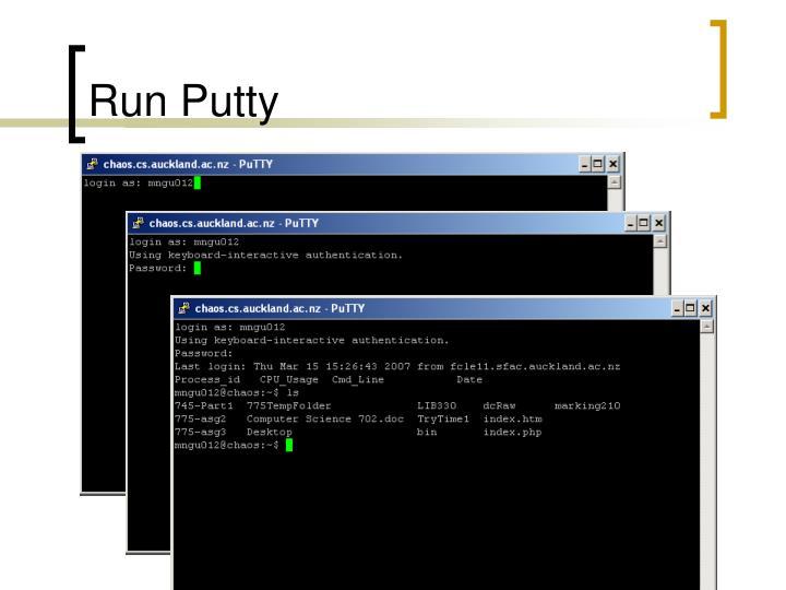 Run Putty