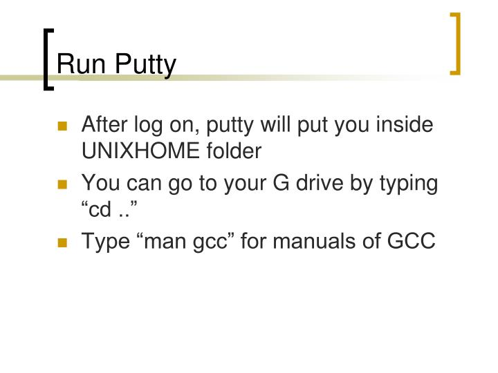 Run Putty