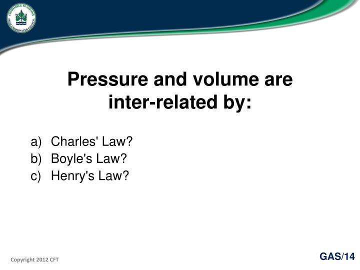 Pressure and volume are
