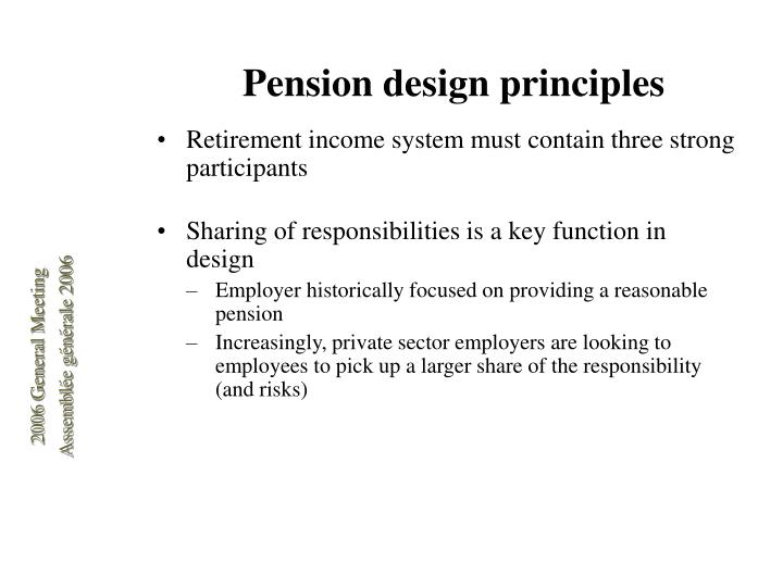 Pension design principles