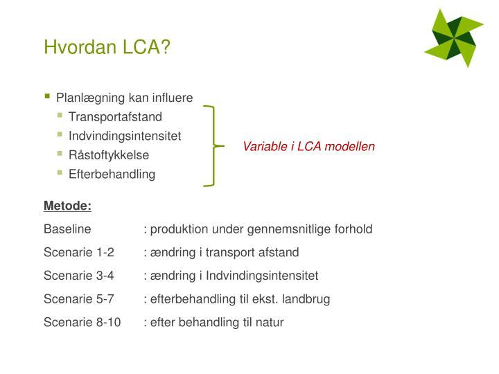 Hvordan LCA?