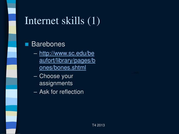 Internet skills (1)