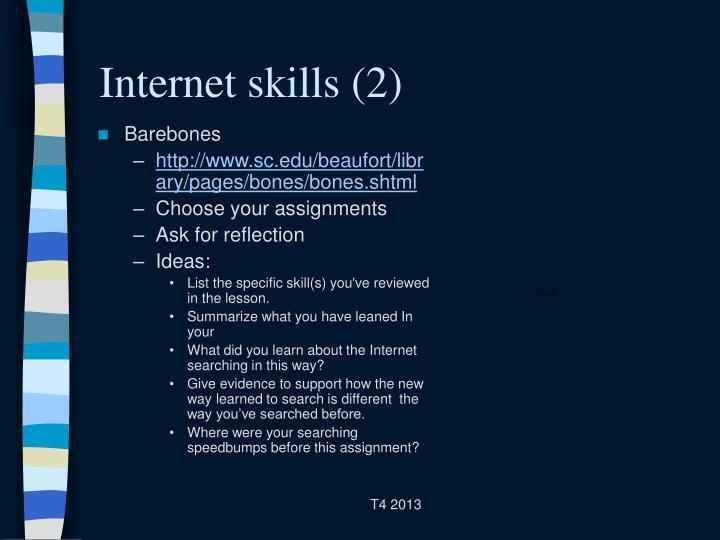 Internet skills (2)