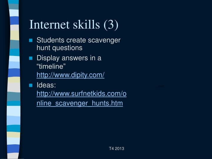 Internet skills (3)