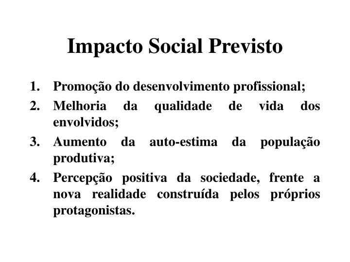 Impacto Social Previsto