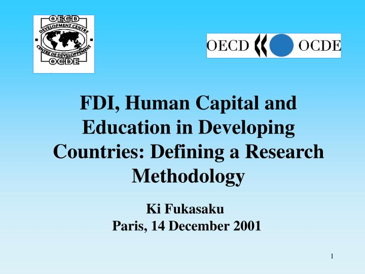Fdi human capital and education in developing countries defining a research methodology