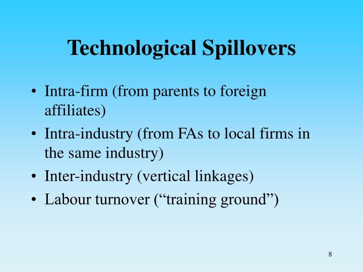 Technological Spillovers