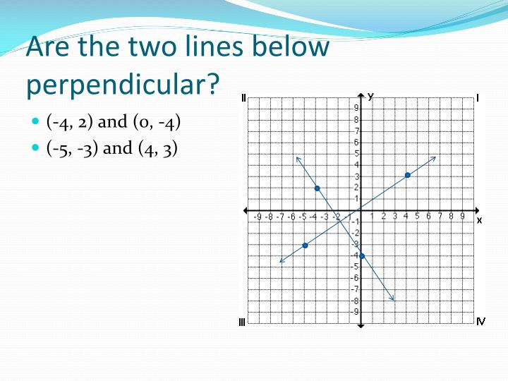 Are the two lines below perpendicular?