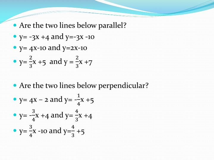 Are the two lines below parallel?