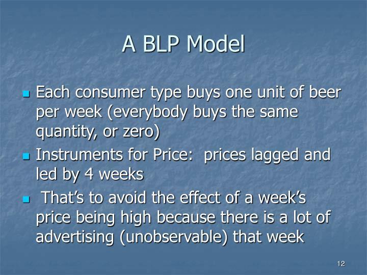 A BLP Model