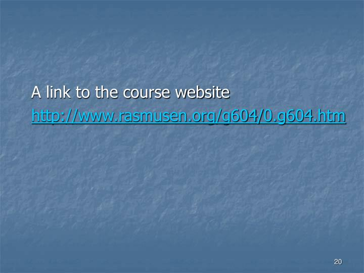 A link to the course website