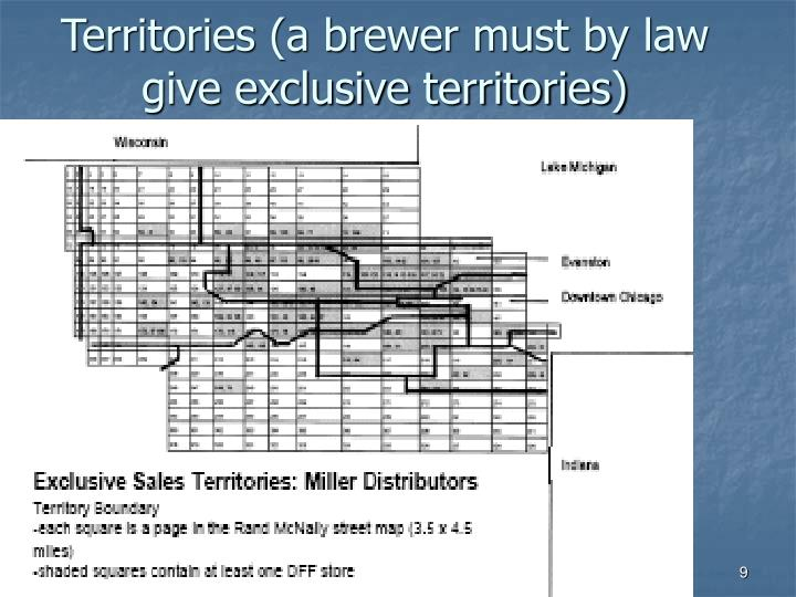 Territories (a brewer must by law give exclusive territories)