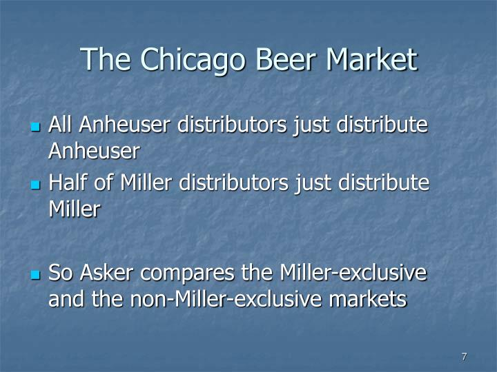 The Chicago Beer Market