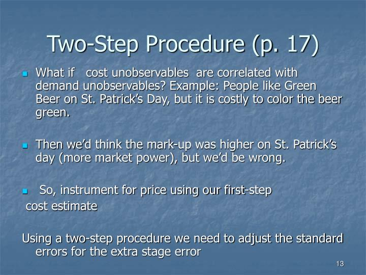 Two-Step Procedure (p. 17)