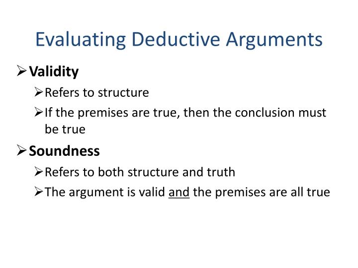 Evaluating Deductive Arguments