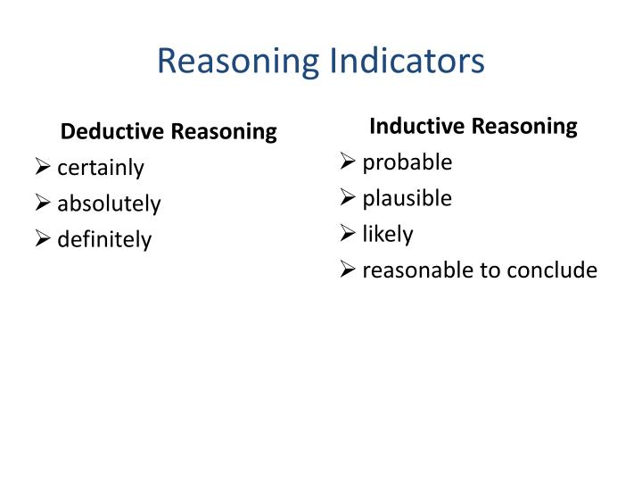 Reasoning Indicators
