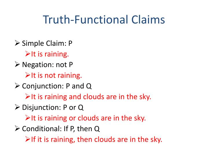 Truth-Functional Claims