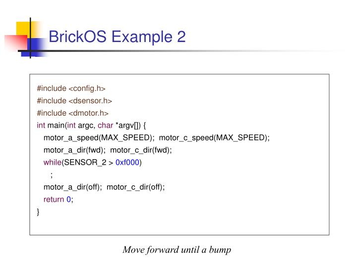 BrickOS Example 2