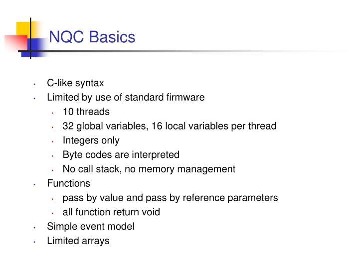 NQC Basics