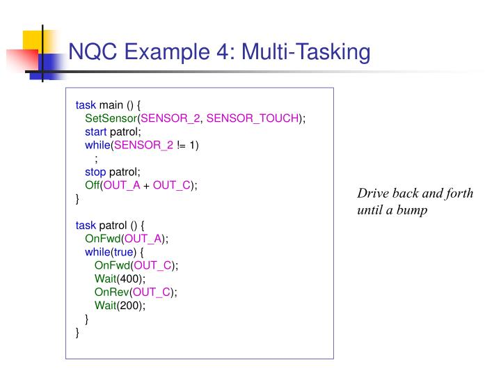 NQC Example 4: Multi-Tasking