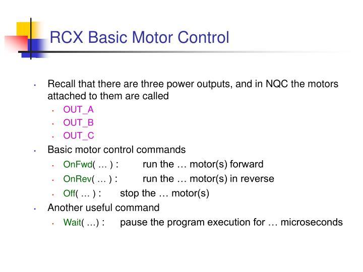RCX Basic Motor Control