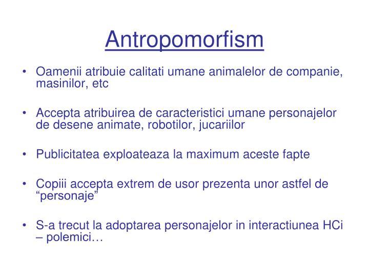 Antropomorfism
