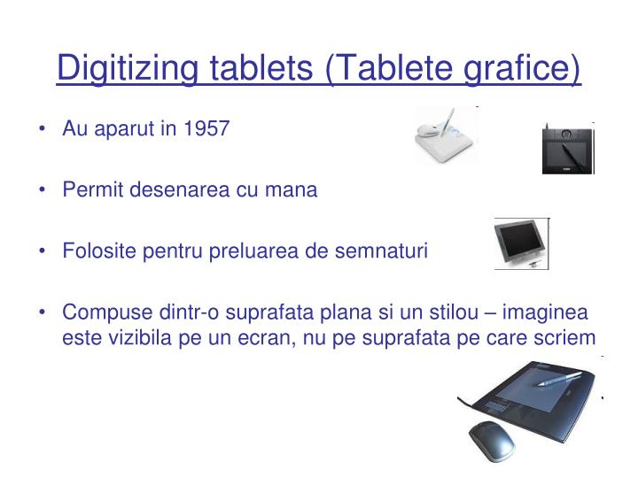 Digitizing tablets (Tablete grafice)