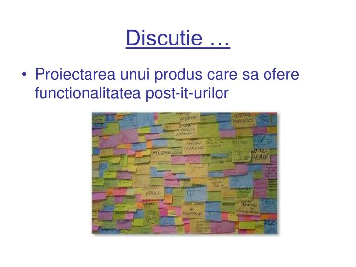 Discutie …