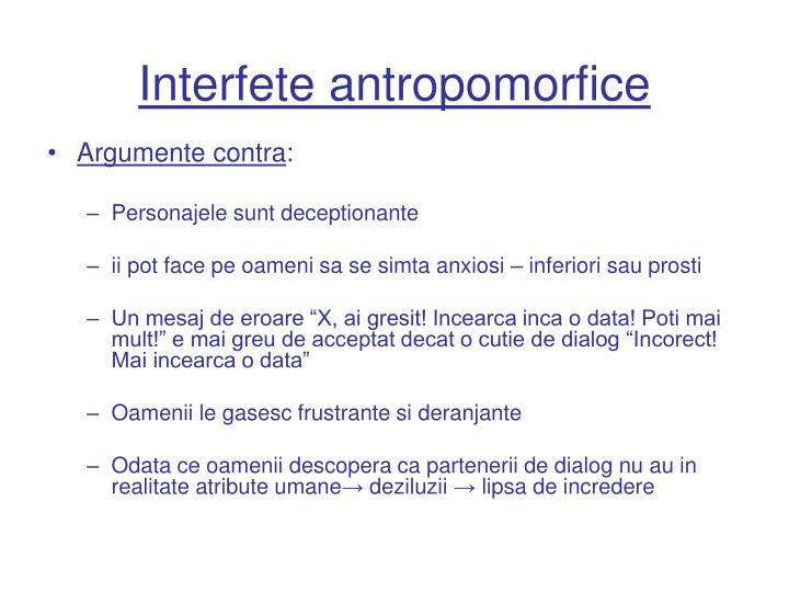 Interfete antropomorfice