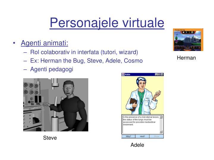 Personajele virtuale