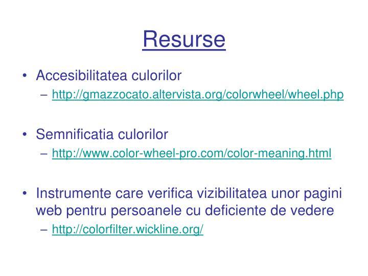 Resurse