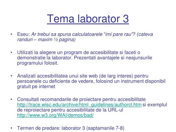 Tema laborator 3