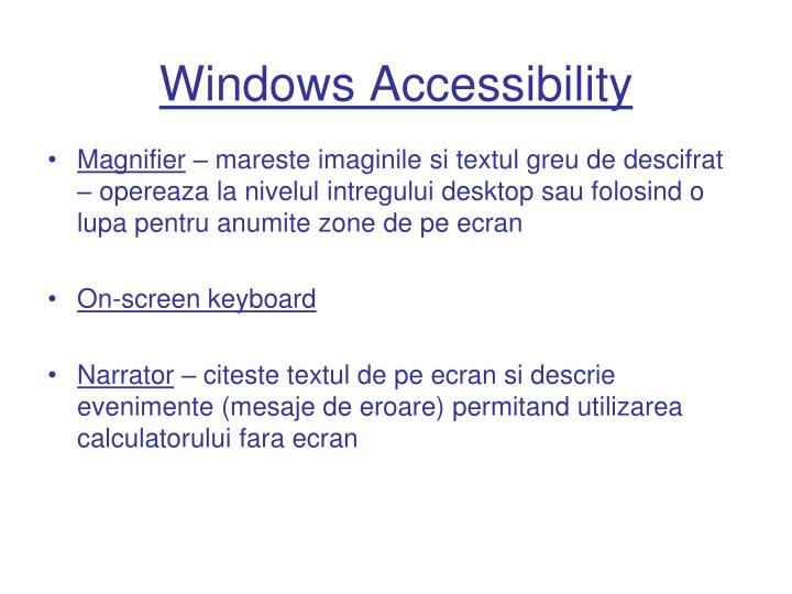 Windows Accessibility